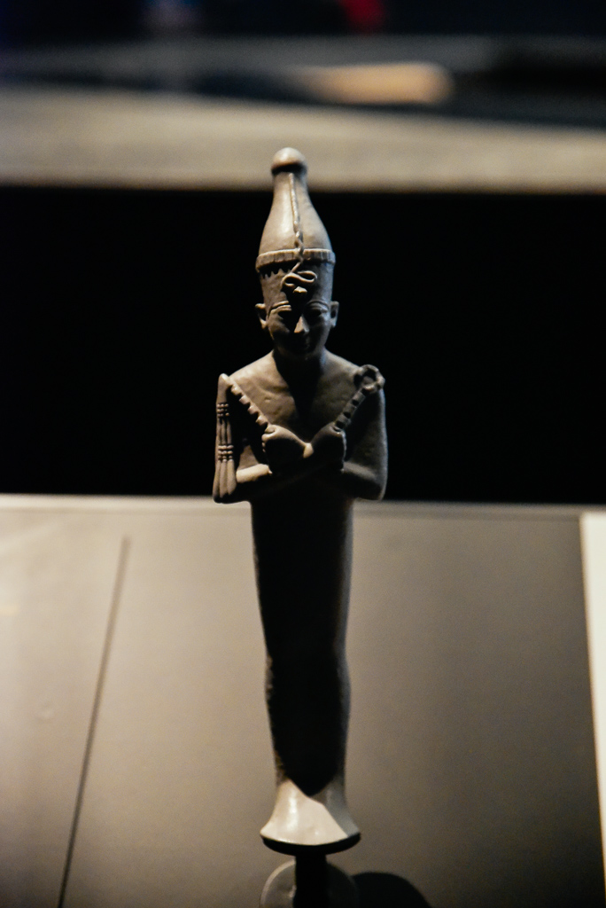 Osiris, God of the underworld Egypt 1085-730 BCE, H. 44cm; bronze, traces of gilding, glass inlays, Louvre Abu Dhabi