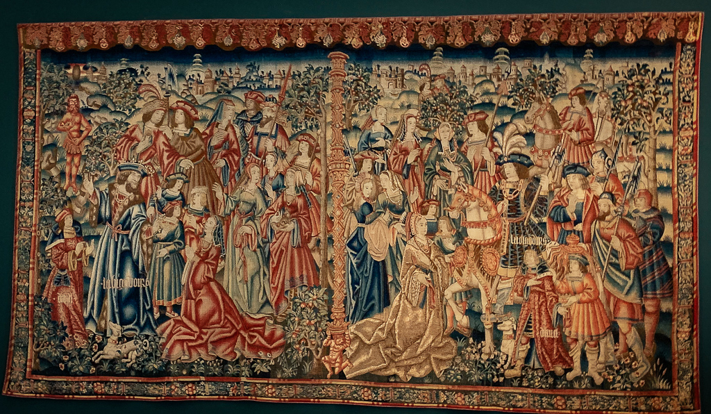 Tapestry of Daniel and Nebuchadnezzar Southern Netherlands, About  1520, L. 345 cm; wool, silk, Musée national du Maye Age-Thermes de Cluny