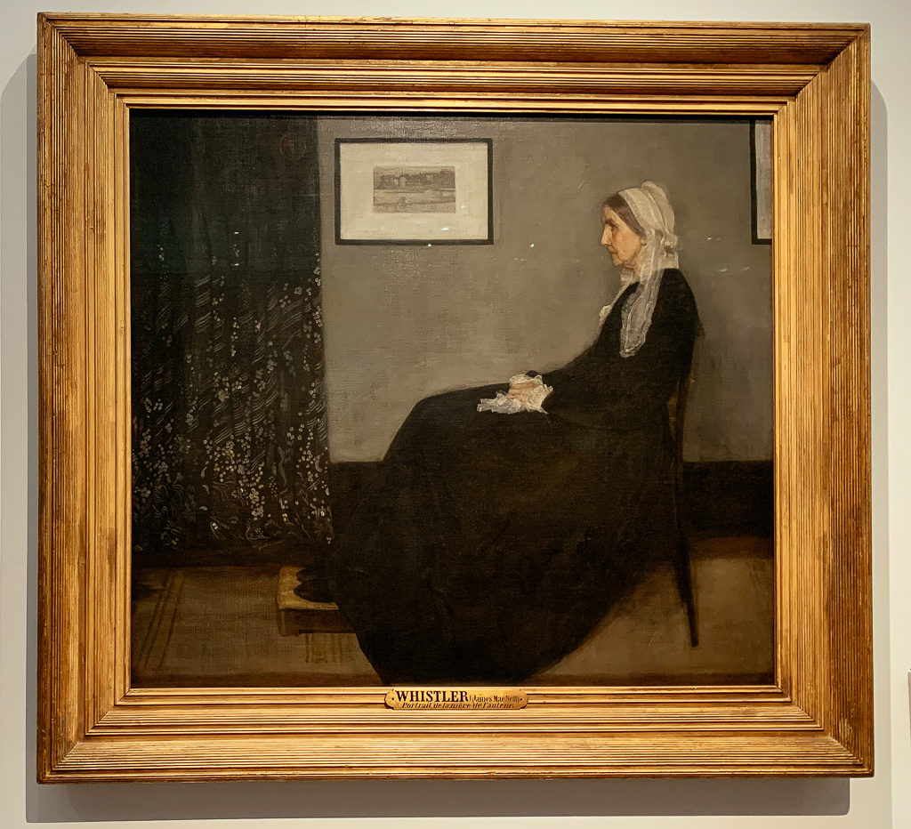 Arrangement in Grey and Block, No.1 also called Portrait of the Artist's Mother JAMES ABBOTT MCNEILL WHISTLER