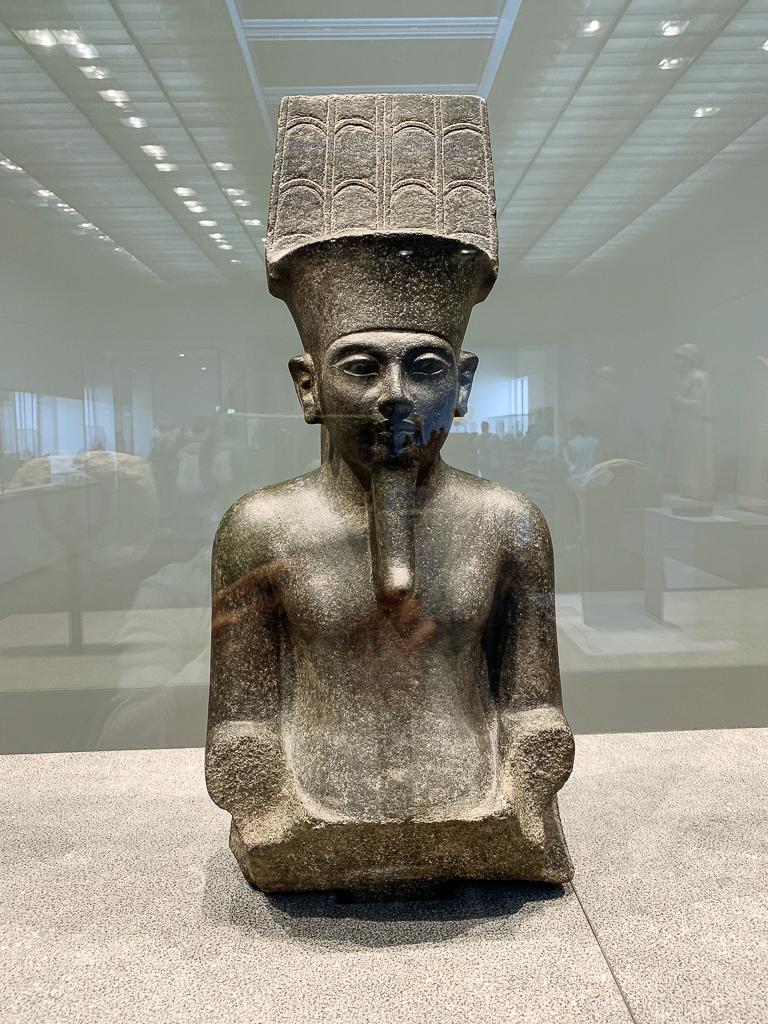 Amun, king of Egyptian gods Egypt, 1336-1327 BCE H. 67.8cm; diorite Musée du Louvre