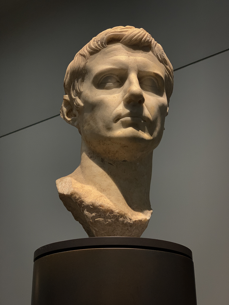 gustus, the first Roman emperor  Italy, Roma(?) 27 BCE-100CE, H. 52cm; marble, LOUBRE ABU DHABI