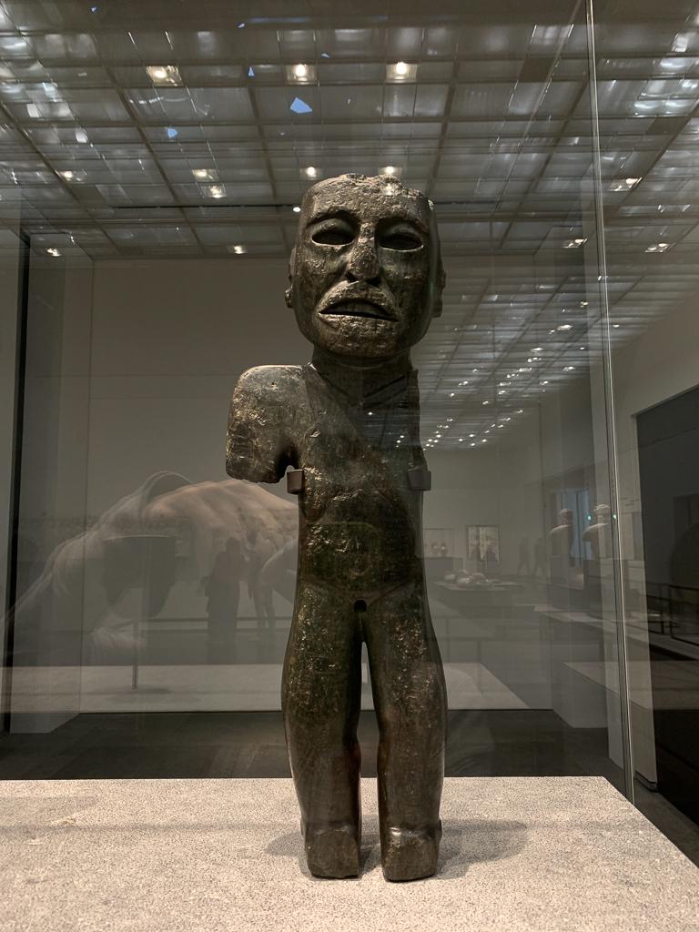 Statuette of a standing figure Teotihuacan culture Mexico 150-550 CE, H. 70cm; serpentine, Musée du quai Branly - Jacques Chirac