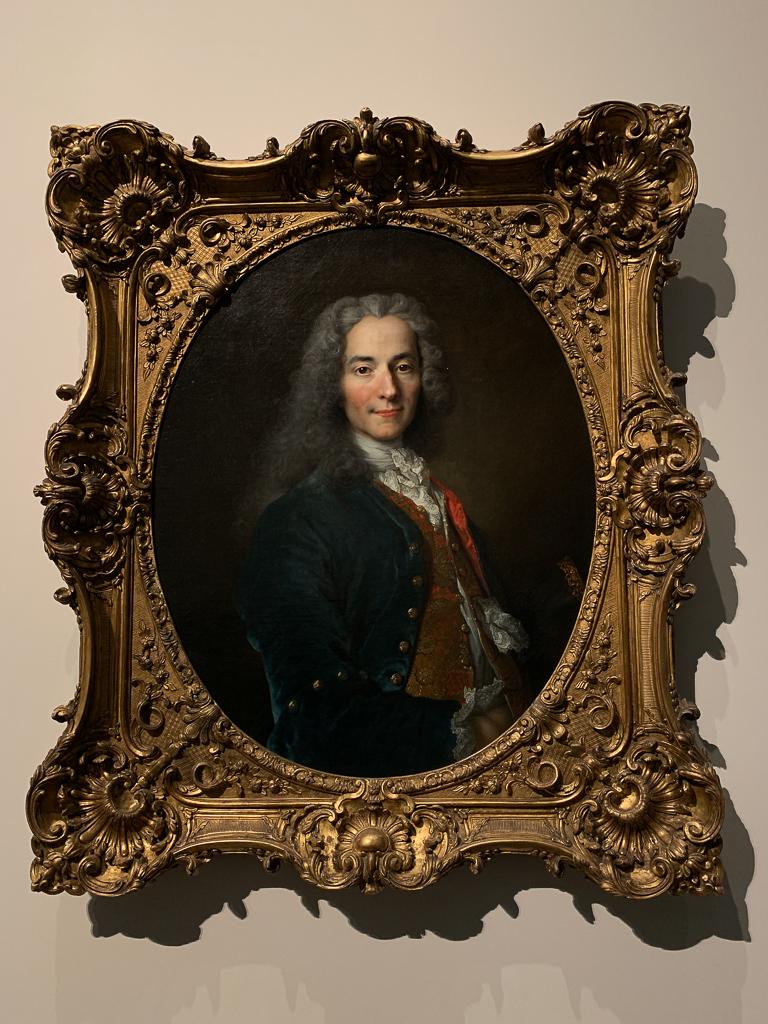 Portrait Voltaire Nicolas de Largillière France 1718 H. 81, W. 65 cm; oil on canvas Musée national du Château de Versailles et de Trianon